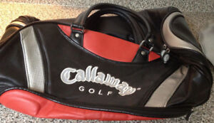 Golf lot incl Callaway golf gym bag books cards coasters