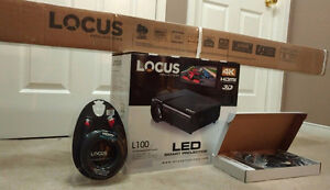 LED Projector & Screen - Brand New