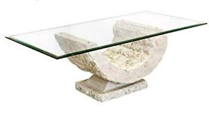 Carol Stone Coffee glass coffee table