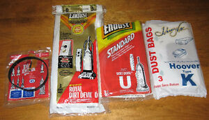 Vacuum Bags & Belt Lot F/S
