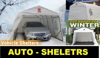 CAR PORTS - CAR SHELTERS - PORTABLE GARAGES -