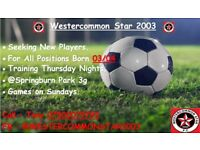 Westercommon Star 2003 - Looking for new players born 03/04