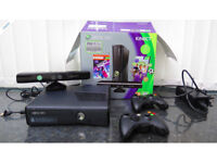 Microsoft Xbox 360 250 GB Black Console with Kinect plus games