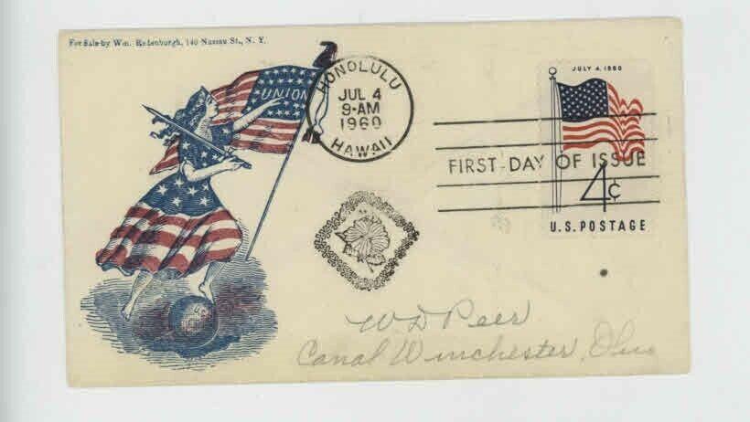Mr Fancy Cancel Civil War Patriotic F-F-234 Union Cvr 568 - $5.50