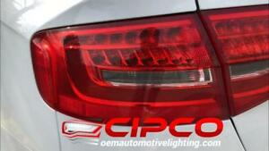 2013 Audi A4 Tail Light, Tail Lamp Left = Driver Side / Inner | Trunk Lid Mounted / Used | Clean & Undamaged