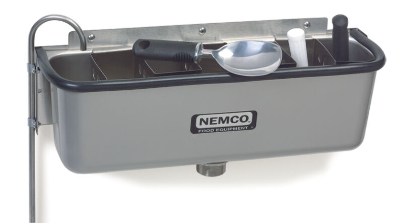"Nemco 77316-19 Spadewell 19"" Ice Cream Dipper Station"