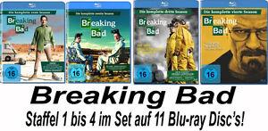 11 Blu-rays * BREAKING BAD - SEASON / STAFFEL 1 - 4 IM SET # NEU OVP