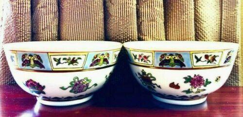 4 of Chinese Jingdezhen Porcelain Famille Rose Bowl w/ Auspicious Symbols 4 PCS