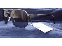 New 2017 Barbour BS1004 Gun Metal Framed Aviator Sunglasses, RRP £65