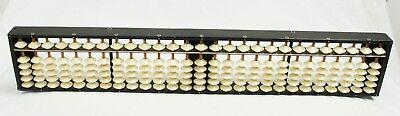 Vintage 27 Column Japanese Abacus Soroban Wood Bead Counting Calculator