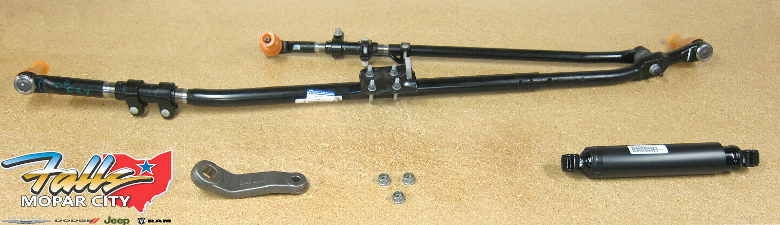 from steering gear to 1st idler arm febi bilstein 46043 Drag Link with castle nuts and cotter pins pack of one