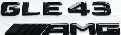 """""""GLE 43 AMG"""" Embleme Zeichen Schriftzug Logo schwarz glänzend für Mercedes"""