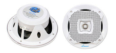 "2) NEW LANZAR AQ5CXW 5.25"" 400W 2-Way Marine Boat Speakers PAIR White 400 Watts on Rummage"