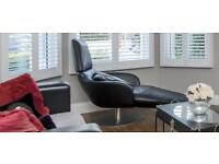 Natuzzi leather chairs swivel chair