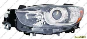 Headlight Driver Side Halogen Mazda CX-5 2013-2016