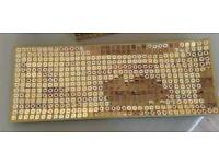 Spanish patterned sparkle glass tray measuring 41cm x 16cm.
