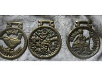 COINS - Horse brasses 6d Old 1 penny and 1933 farthing Nice cond BARGAIN £3