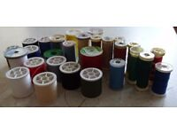 27 reels of sewing thread