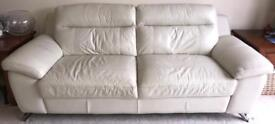 Modern three seater leather sofa reduced for quick sale.