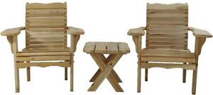 Solid Cedar Wood Bistro Sets For Front Porch,Garden,Patio,Firepit,Cottage,Lawn,Deck - FREE SHIPPING