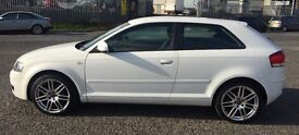 White Audi A3SE, s-line alloys, full yr tax, serviced July 2016, beautiful inside and out