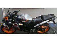 Honda CBR125 125cc - Silver Orange - 12 month MOT