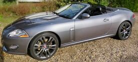 Jaguar XK 4.2 Convertible GREY with Midnight Blue Top exc condition Lady owned MOT till Mar 2018