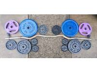 Ez bar and 37kg of weights
