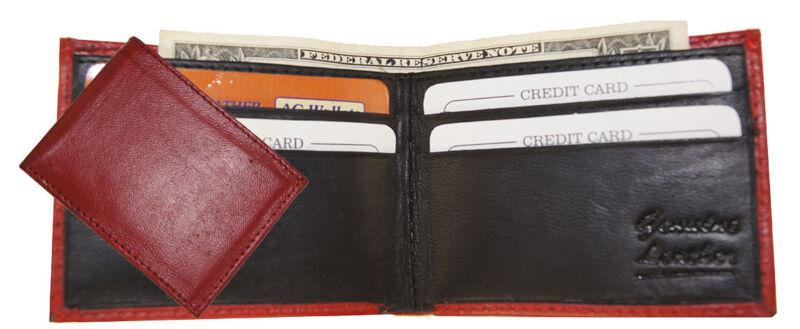 Genuine Leather Kids Small Thin Bifold Boys Mini Wallet