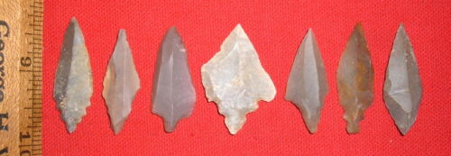 (7) Select Sahara Mesolithic Points, Prehistoric African Artifacts