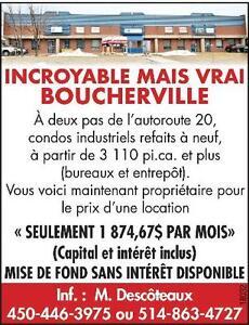 Condos industriel à Boucherville