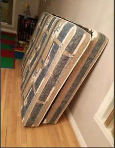 full size very nice, heavy, and clean mattress and box