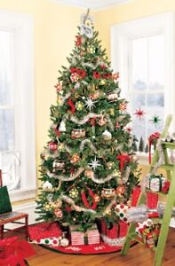 Artificial Christmas Tree - 7' - individual L-shaped branches