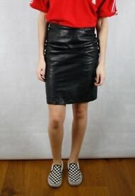 x50 Vintage Leather Skirt Wholesale Joblot