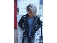 Real Leather Biker Jacket - Small - RRP £100 - Selling ASAP