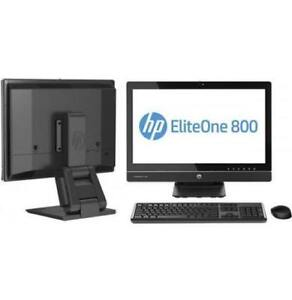 HP EliteOne 800 G1 AIll in One Desktop PC i5 3.2GHz CPU 4GB  RAM 500GB HDD 23 IPS Touch Screen Windows 10 Pro Webcam