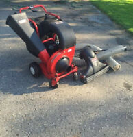Troy-Bilt's Wood Chipper and Leaf shredder VAC*