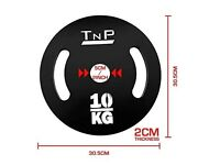 """2 NEW 10kg weight plates, 2"""""""