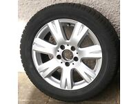 Mercedes alloy wheels with Dunlop winter tyres