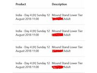 4 x England vs India 2nd Test Day 4 tickets