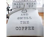 Wake up and smell the coffee duvet set