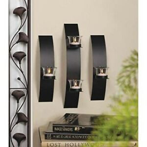 Contemporary candle wall sconces - IN BOX new