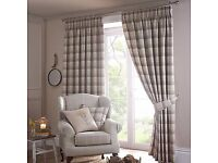 Balmoral Ochre Lined Pencil Pleat Curtains 90x90 inches