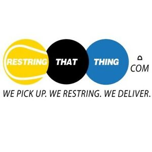 Racquet restringing + pick up+ delivery (RestringThatThing.com)