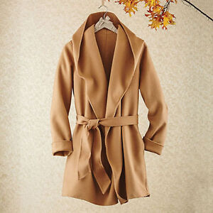 camel coloured hooded wrap coat