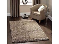 Almost new biscuity shaggy very thick rug