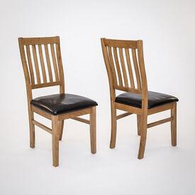 Croft Oak Dining Chair (pair)