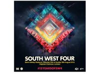 2 SW4 paper tickets for Saturday 25 August 2018