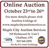 Exciting Online Auction - Oct 23 to Oct 26. Don't miss it...