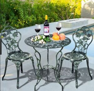 Ideal Patio Cafe Bistro Table & Chairs .  Got for Mother's Day